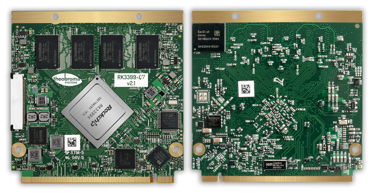 RK3399-Q7 SOM for industrial applications in IoT - Theobroma Systems